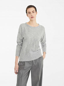 Пуловер Max Mara Studio Harem light grey